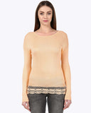 Park Avenue Woman Light Orange Regular Fit T-Shirt