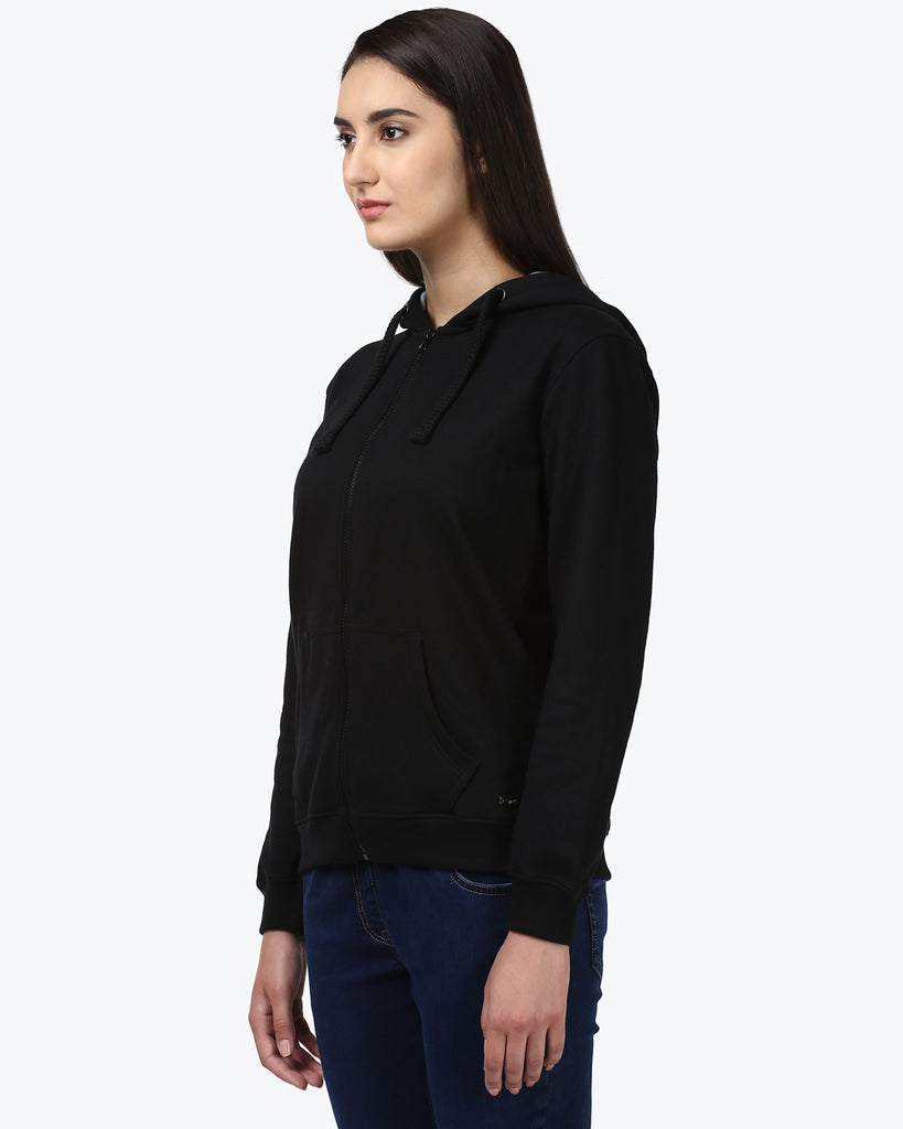 Park Avenue Woman Black Regular Fit T-Shirt