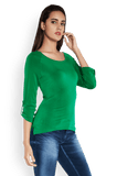 Park Avenue Woman Green Regular Fit T-Shirt