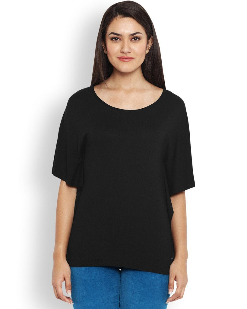 Park Avenue Black Regular Fit T-Shirt