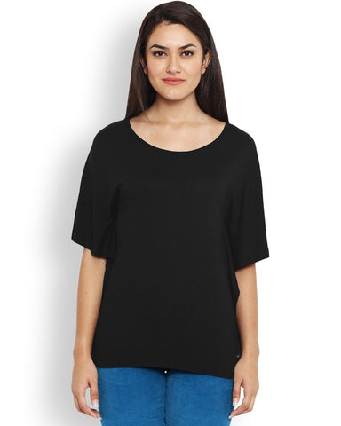 Park Avenue Black Regular Fit Woman T-Shirt