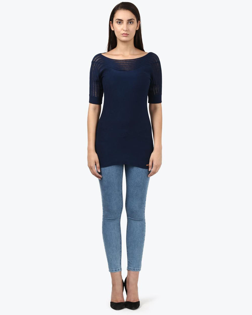 Park Avenue Woman Dark Blue Regular Fit T-Shirt