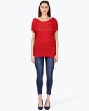 Park Avenue Woman Dark Red Regular Fit T-Shirt