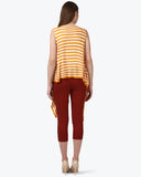 Park Avenue Woman Medium Yellow Regular Fit T-Shirt