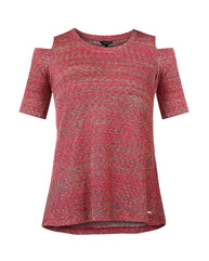 Park Avenue Woman Red Regualr Fit T-Shirt