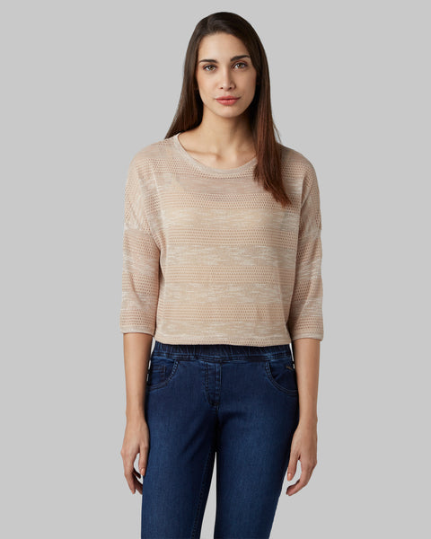 Park Avenue Woman Medium Fawn Regular Fit T-Shirt