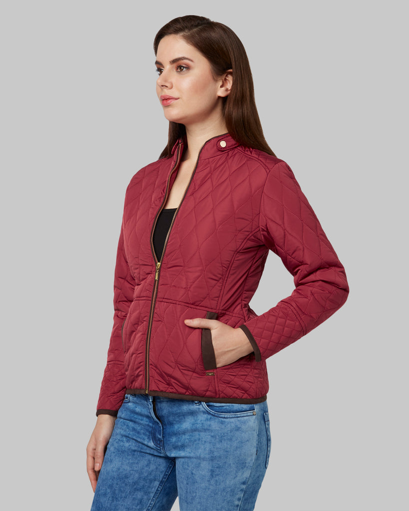 Park Avenue Woman Red Regular Fit Jacket