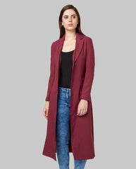 Park Avenue Woman Maroon Regular Fit Jacket