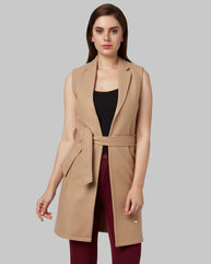 Park Avenue Woman Brown Regular Fit Jacket