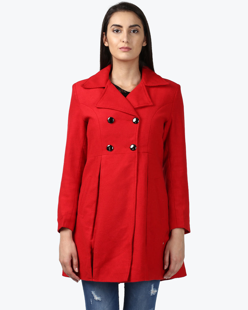 Park Avenue Woman Dark Red Regular Fit Jacket