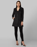 Park Avenue Woman Dark Grey Regular Fit Jacket