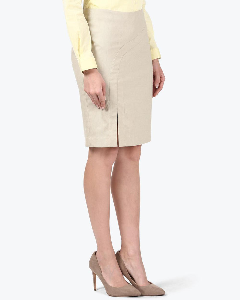 Park Avenue Woman Fawn Regular Fit Skirt