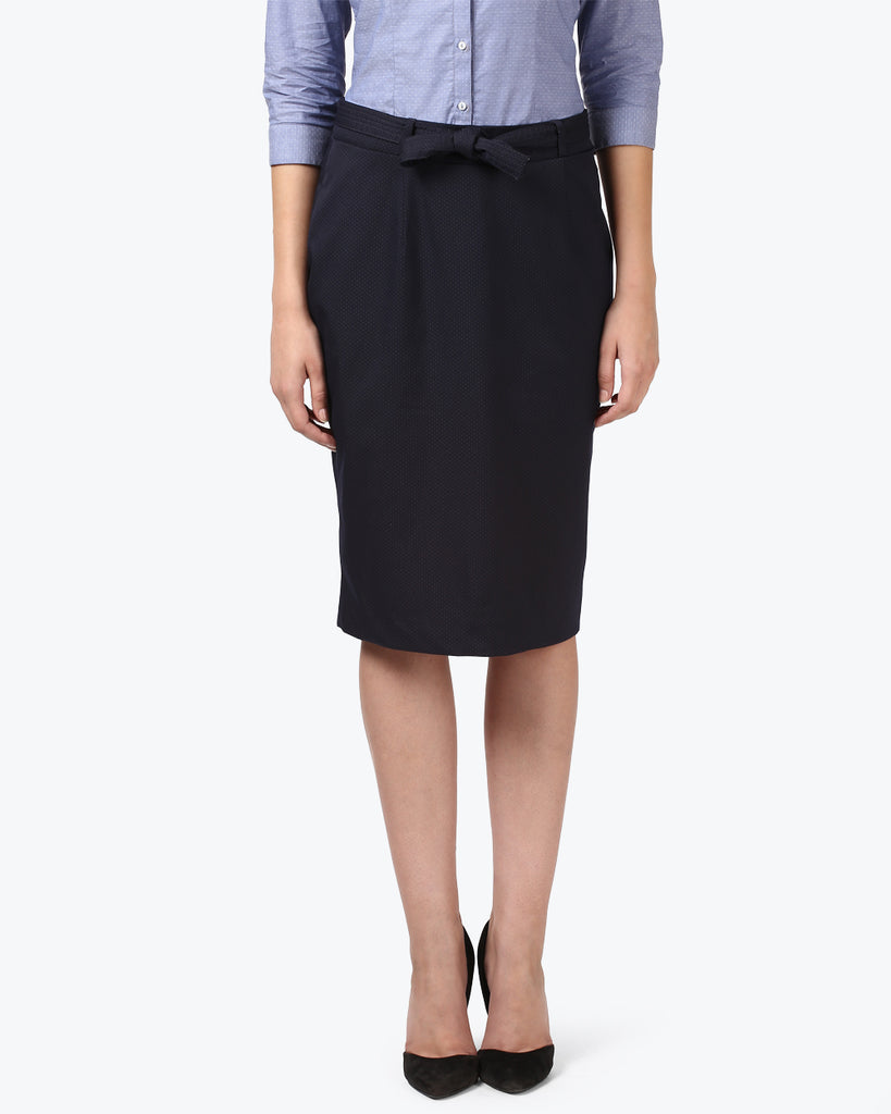 Park Avenue Woman Dark Blue Regular Fit Skirts