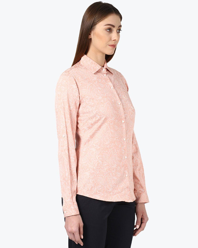 Park Avenue Woman Red Regular Fit Shirt