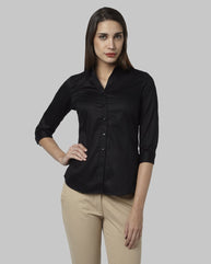 Park Avenue Woman Black Regular  Shirt