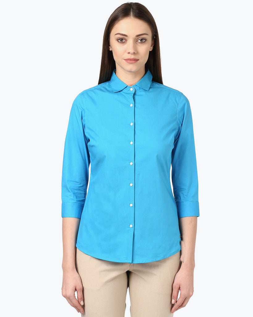 Park Avenue Woman Dark Blue Regular Fit Shirt