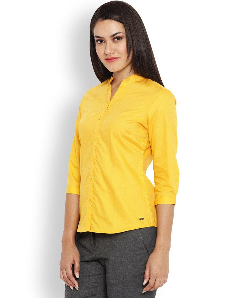 Park Avenue Brown Regular Fit Woman Shirt
