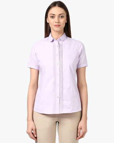 Park Avenue Woman Maroon Regular Fit Shirt