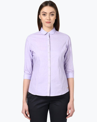Park Avenue Woman Violet Regular Fit Shirt