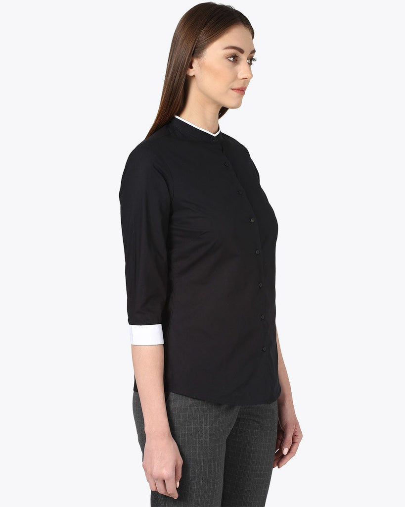 Park Avenue Woman Black Regular Fit Shirt