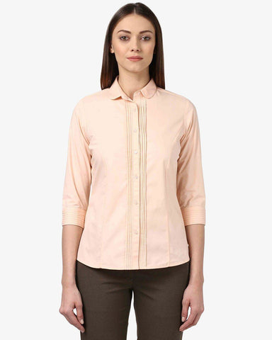 Park Avenue Woman Fawn Regular Fit Shirt