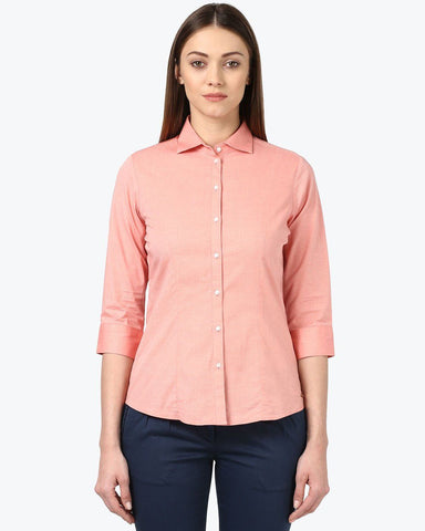 Park Avenue Woman Dark Red Regular Fit Shirt