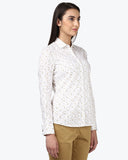 Park Avenue Woman Dark Brown Regular Fit Shirt