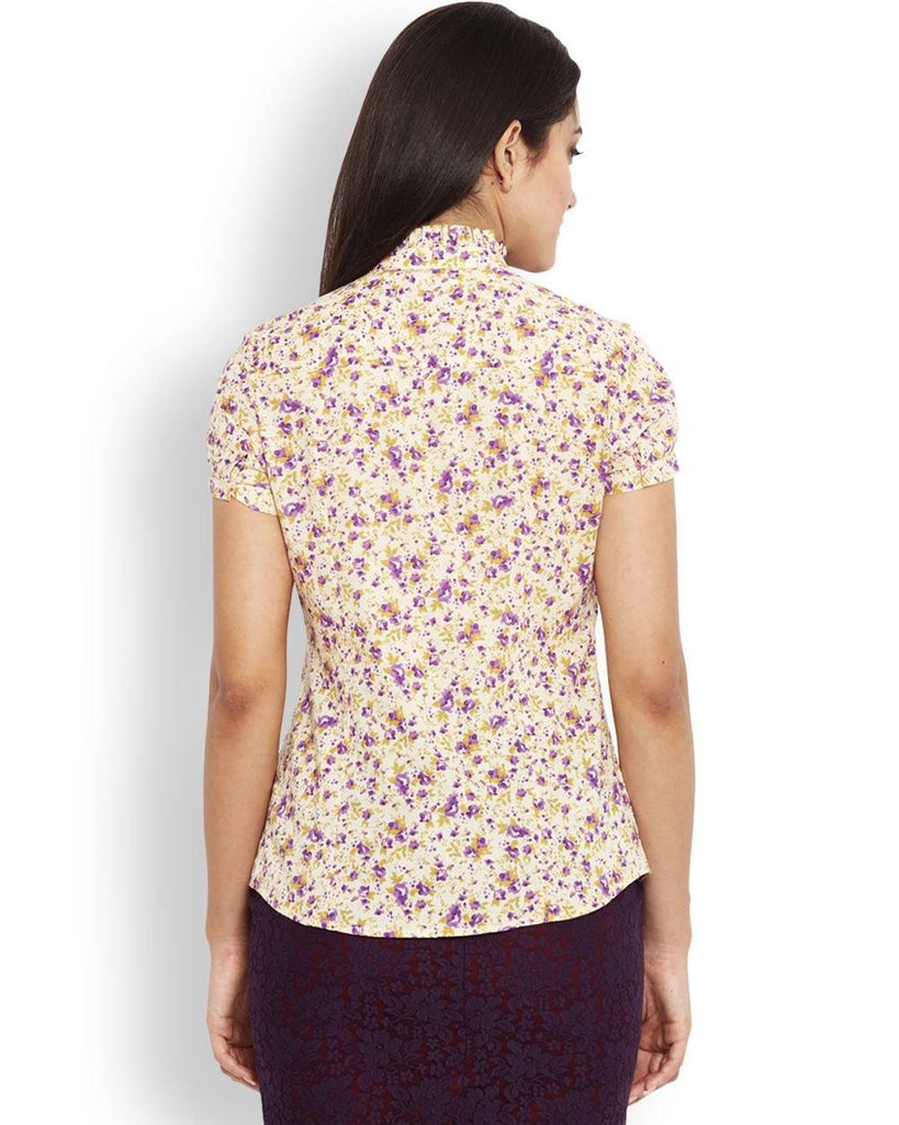Park Avenue Yellow Regular Fit Woman Shirt