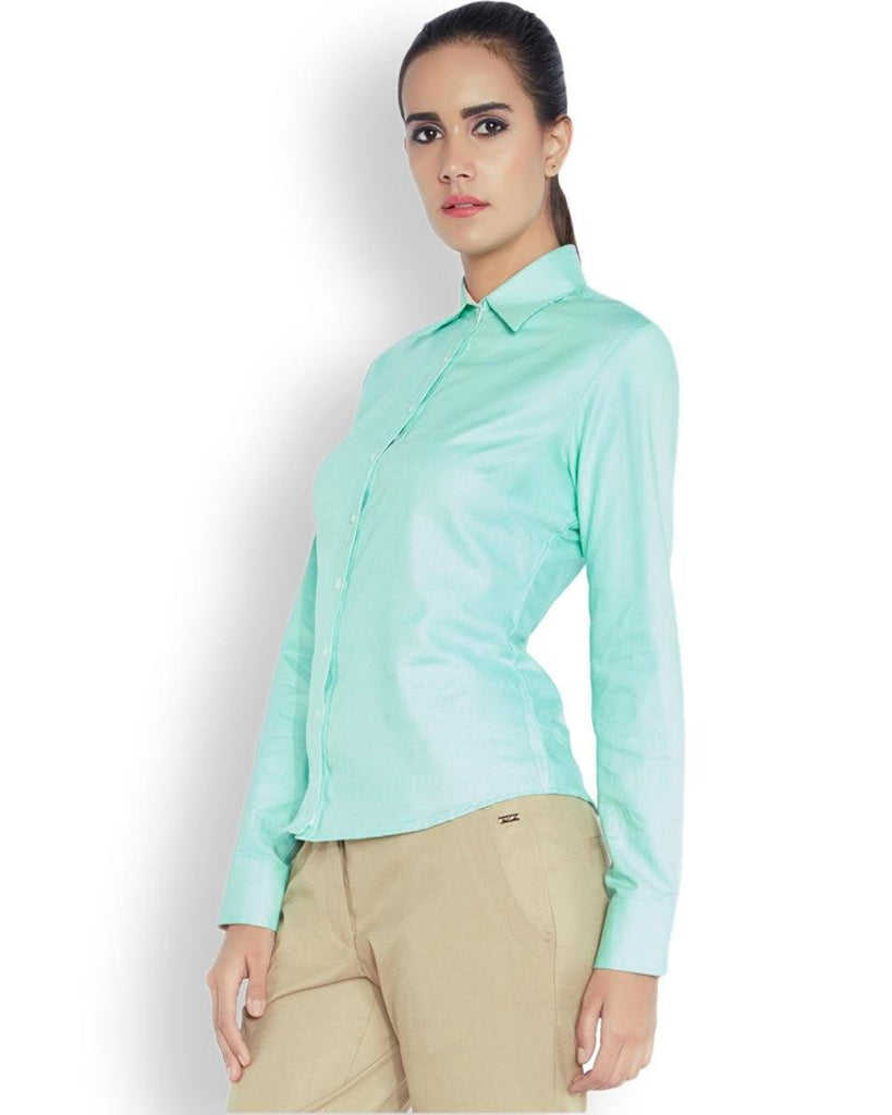 Park Avenue Woman Green Regular Fit Shirt