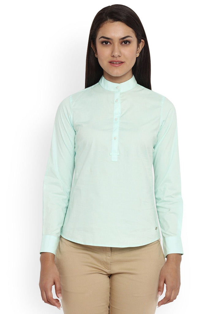 Park Avenue Green Regular Fit Woman Shirt