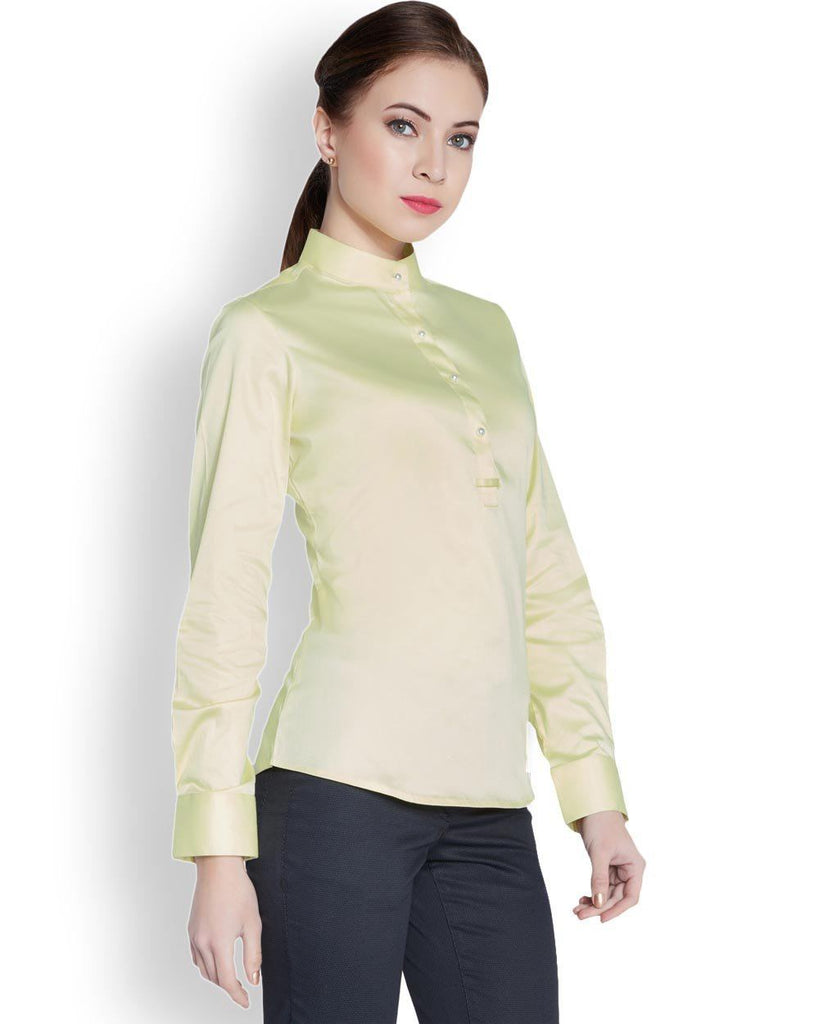 Park Avenue Woman Yellow Regular Fit Shirt