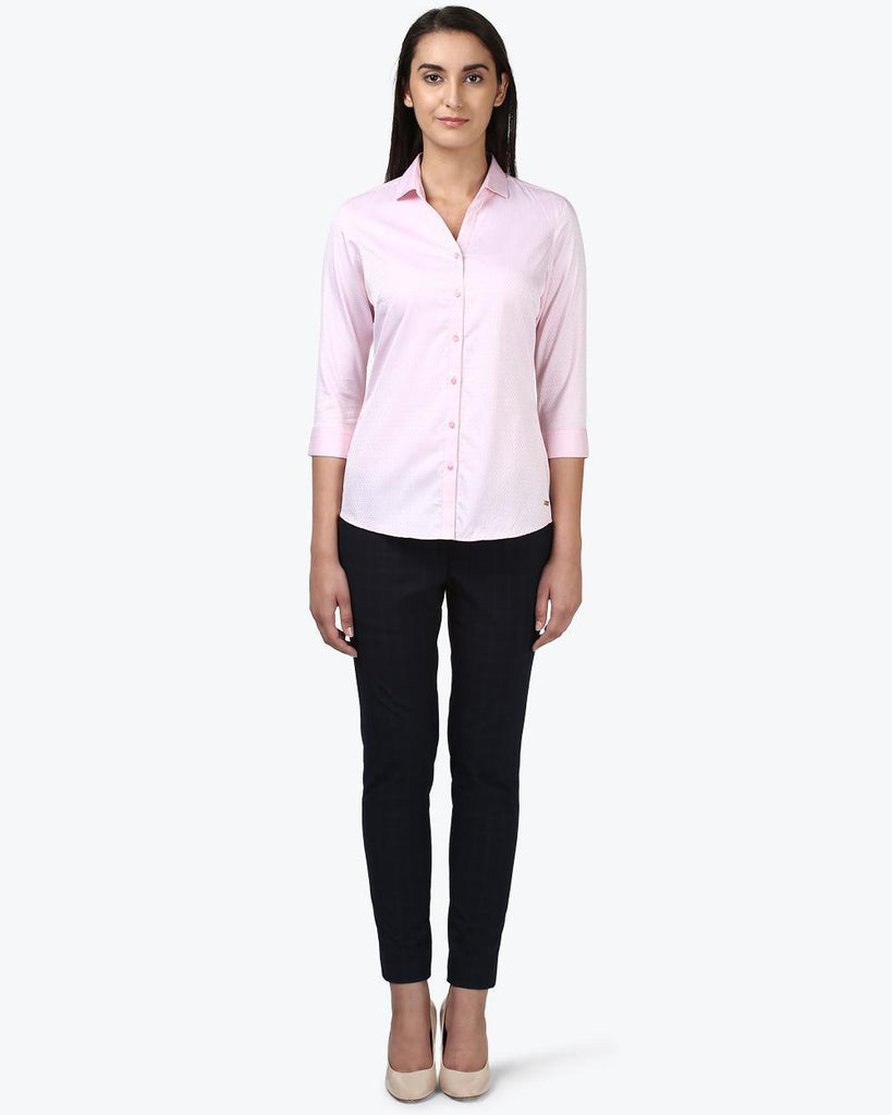 Park Avenue Woman Pink Regular Fit Shirt
