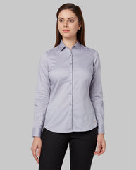 Park Avenue Woman Medium Grey Regular Fit Shirt