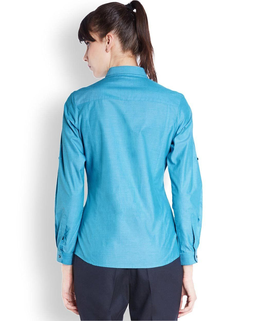 Park Avenue Woman Blue Regular Fit Shirt