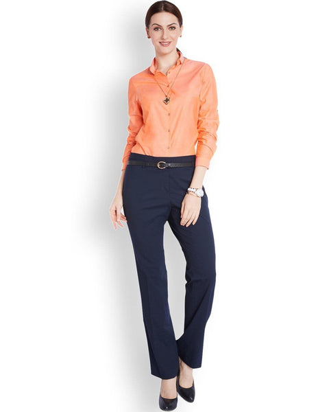 Park Avenue Woman Orange Regular Fit Shirt