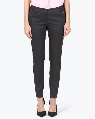 Park Avenue Woman Dark Grey Tapered Fit Trouser