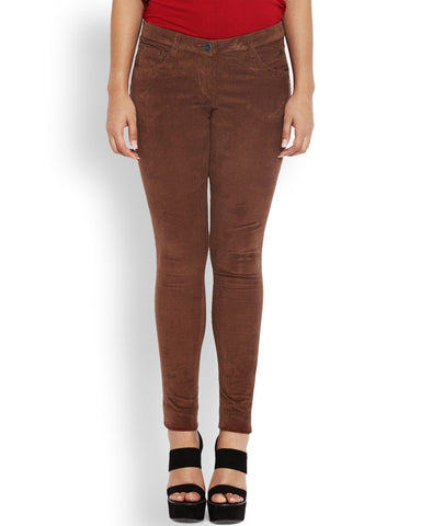Park Avenue Dark Brown Super Slim Trouser