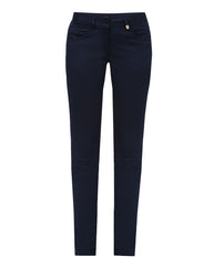 Park Avenue Woman Dark Blue Tapered Fit Trouser