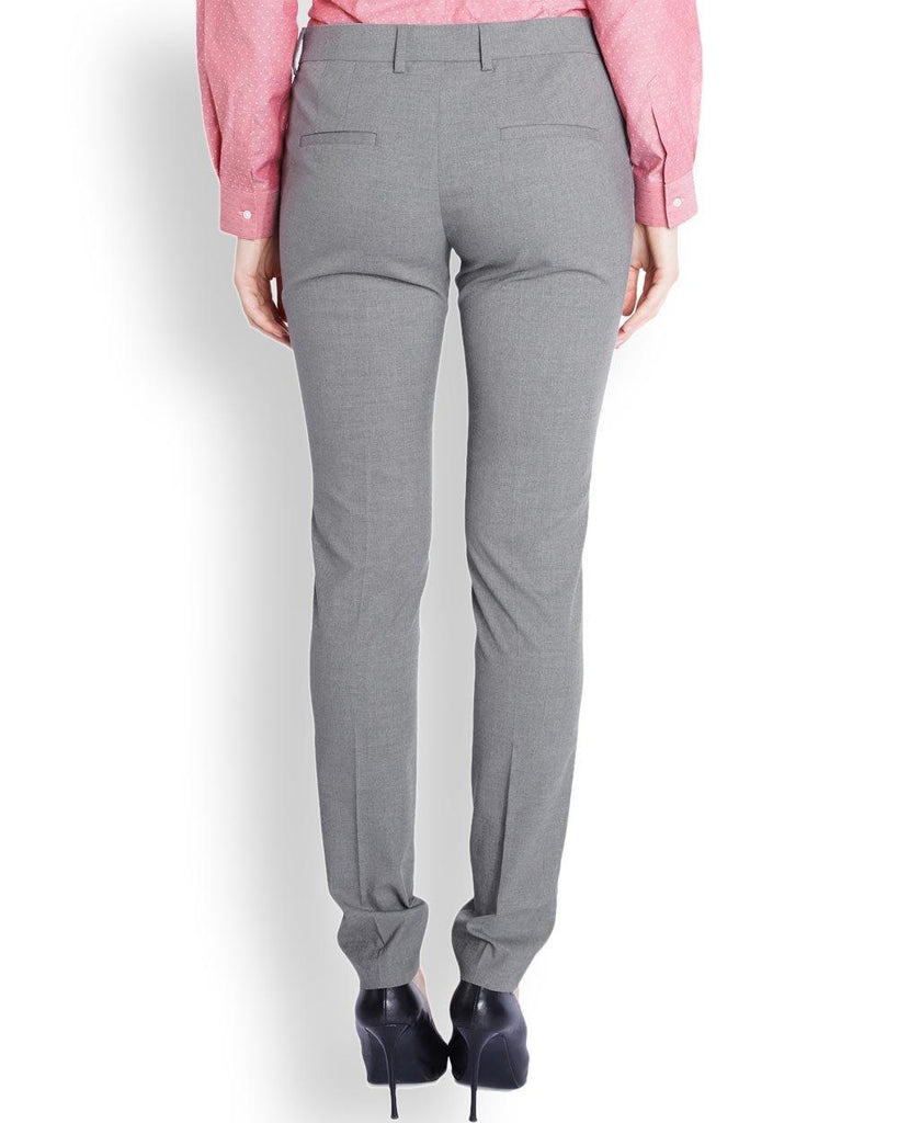 Park Avenue Woman  Grey Tapered Fit Trouser