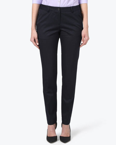 Park Avenue Woman Dark Blue Regular Fit Trouser