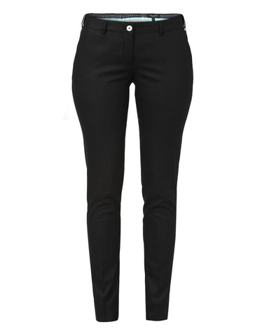 Park Avenue Woman Black Regular Fit Trouser
