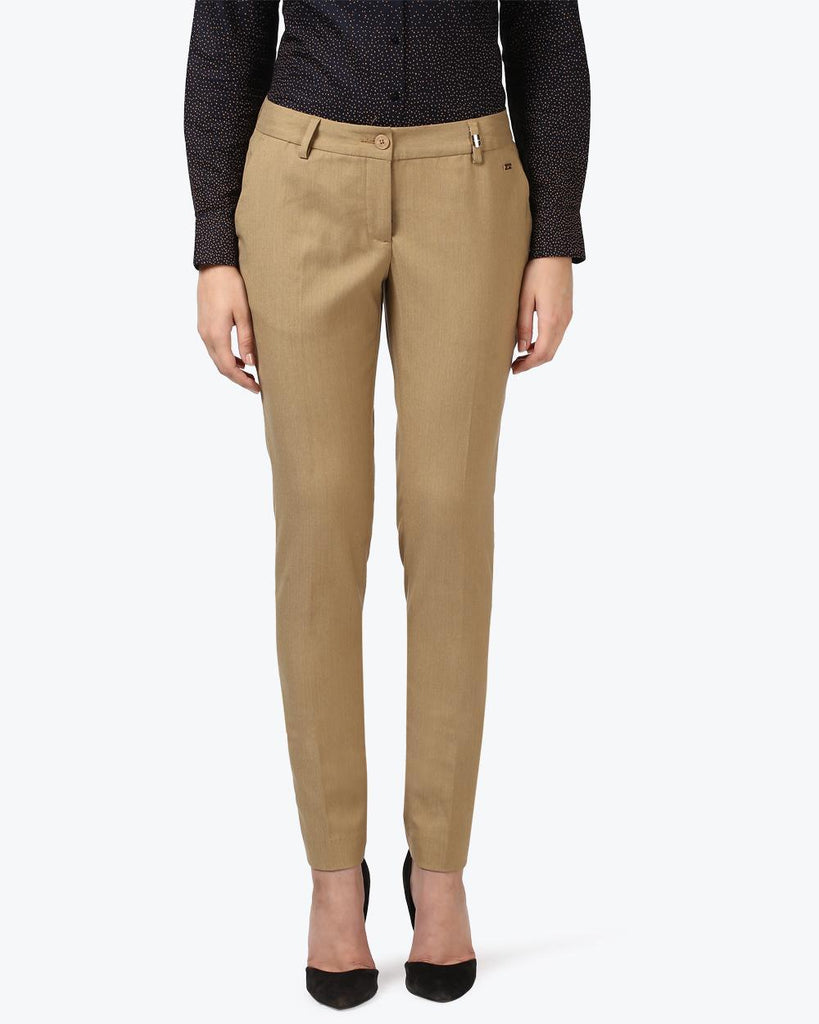 Park Avenue Woman Dark Fawn Tapered Fit Trouser