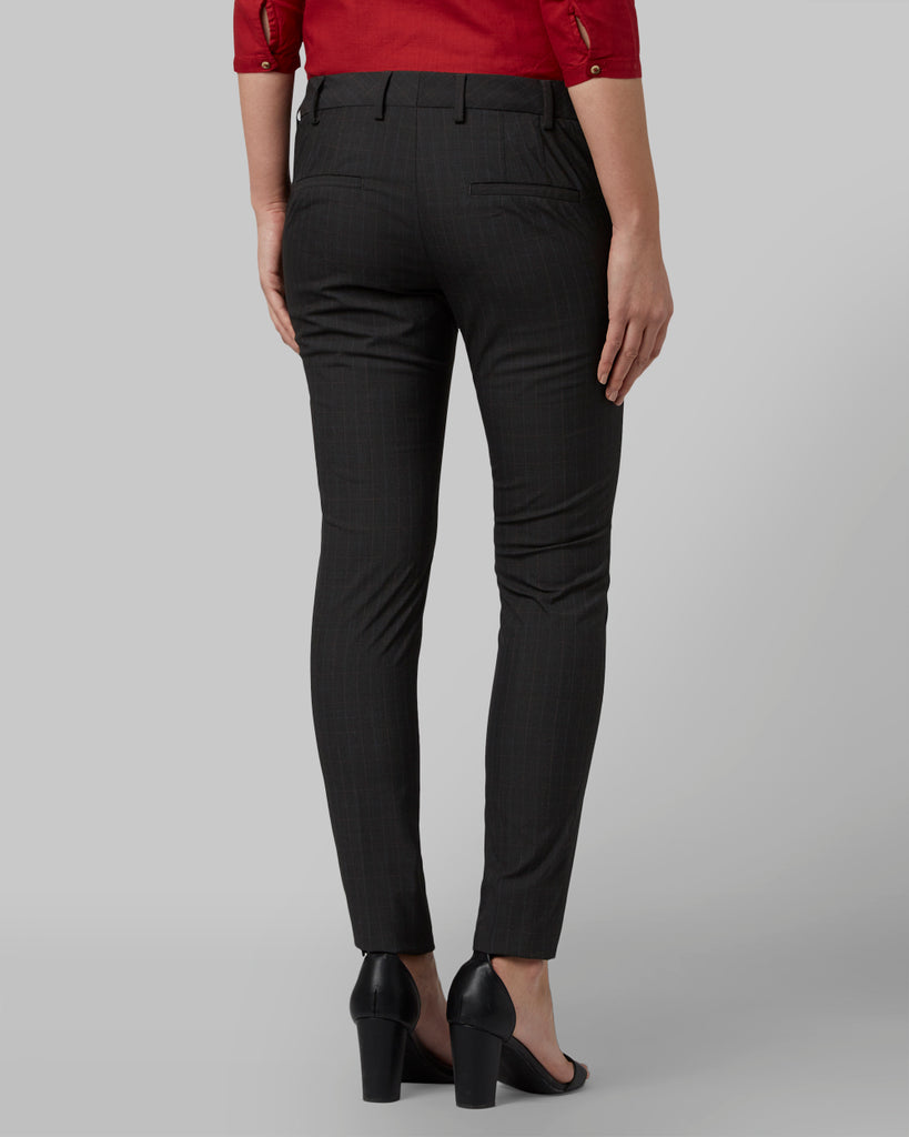 Park Avenue Woman Dark Grey Regular Fit Trouser