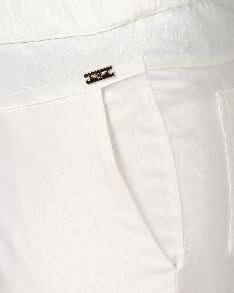Park Avenue Woman White Jegging Fit Trouser