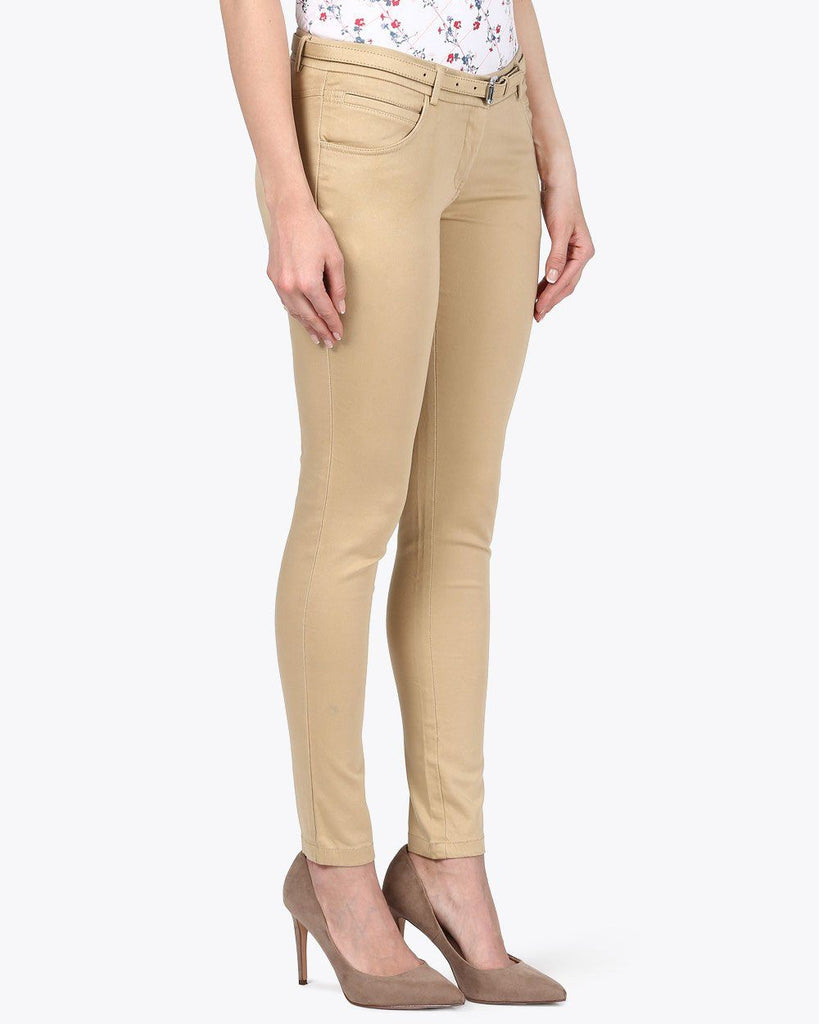 Park Avenue Woman Fawn Slim Fit Trouser