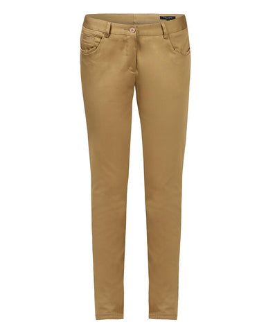 Park Avenue Woman Dark Khaki Tapered Fit Trouser