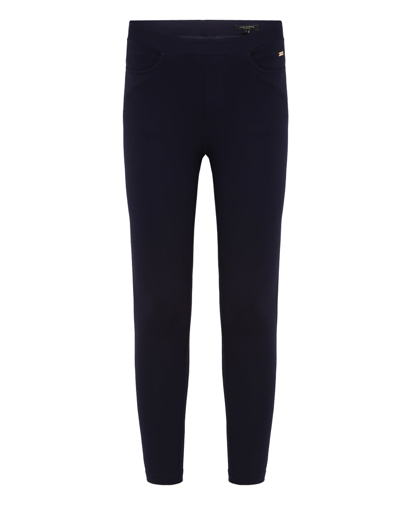 a8dd03f50a986 Buy Park Avenue Woman Dark Blue Regular Fit Trouser Online