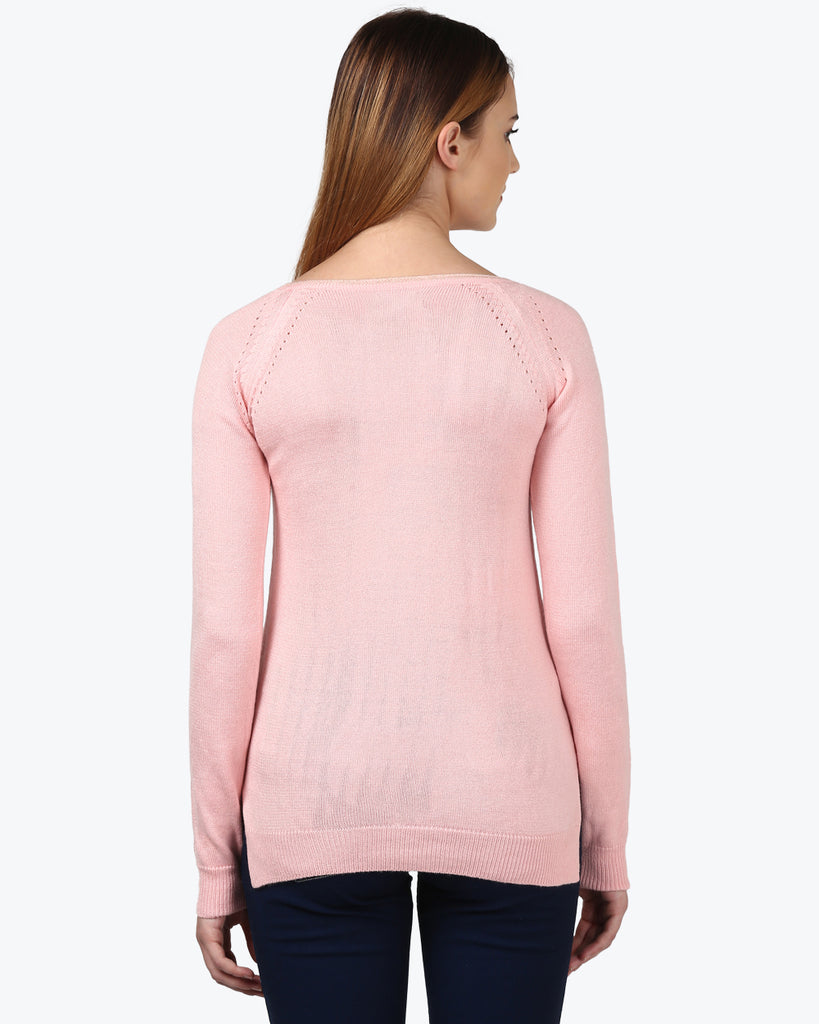 Park Avenue Woman Pink Regular Fit Sweater