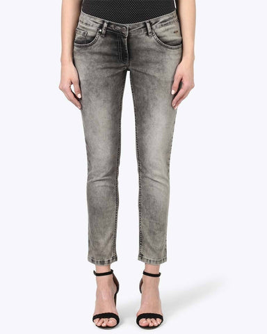 Park Avenue Woman Grey Skinny Fit Jeans