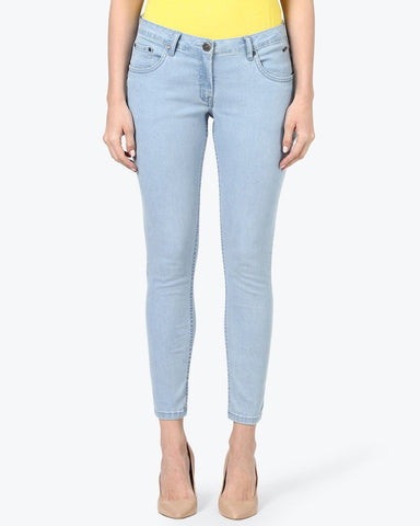 Park Avenue Woman Blue Skinny Fit Jeans